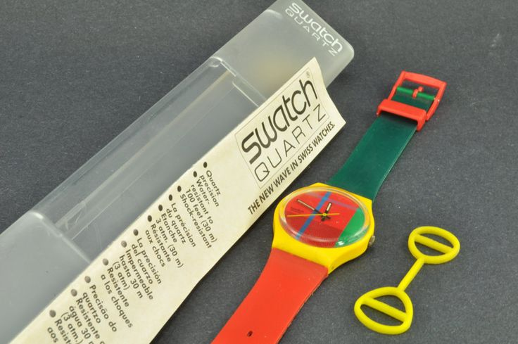 Swatch Watches...from the 80's but i had them and with the Swatch guards too!
