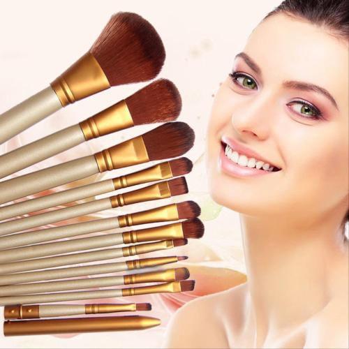 12 개 세트 새로운 여성 전문 화장품 브러쉬 파우더 파운데이션 아이 섀도우 립 Pincel 드레싱 테이블 무료 배송