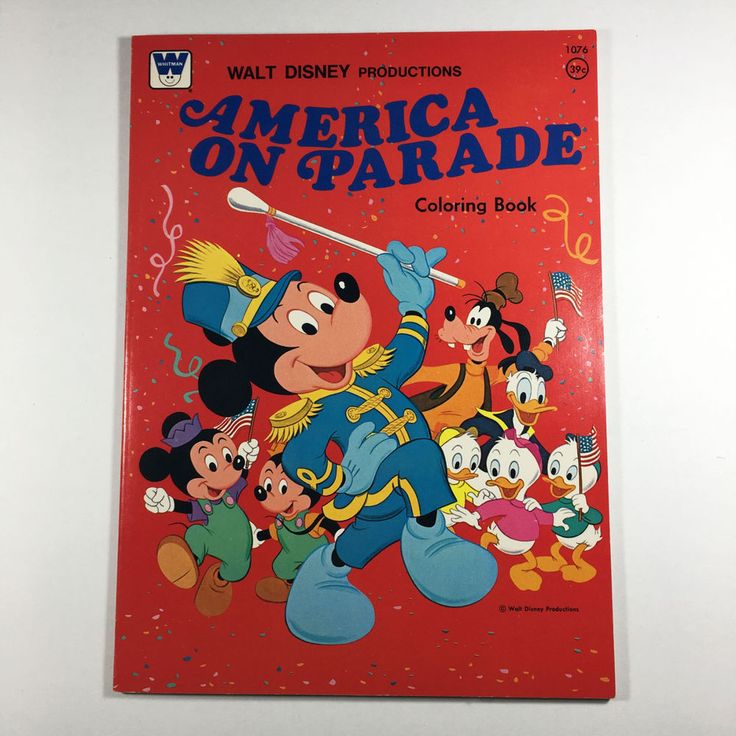 Disneyland 1976 Vintage Whitman Coloring Book America On Parade Unused Uncolored