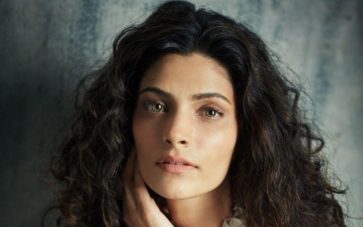 Descargar fondos de pantalla Saiyami Kher, 4k, retrato, belleza, morena, la actriz india, Bollywood
