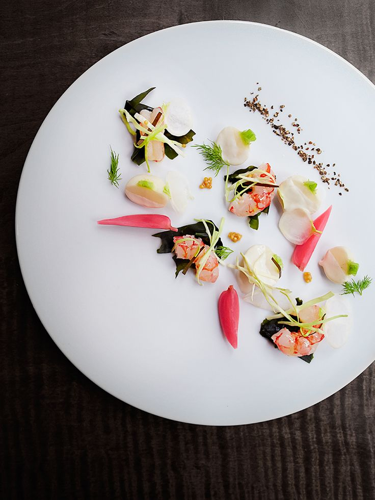 © Signe Birck.  Dish by chef Michael Anthony at Gramercy Tavern. Exclusive interview with the photographer here: http://theartofplating.com/editorial/spotlight-photographer-signe-birck/