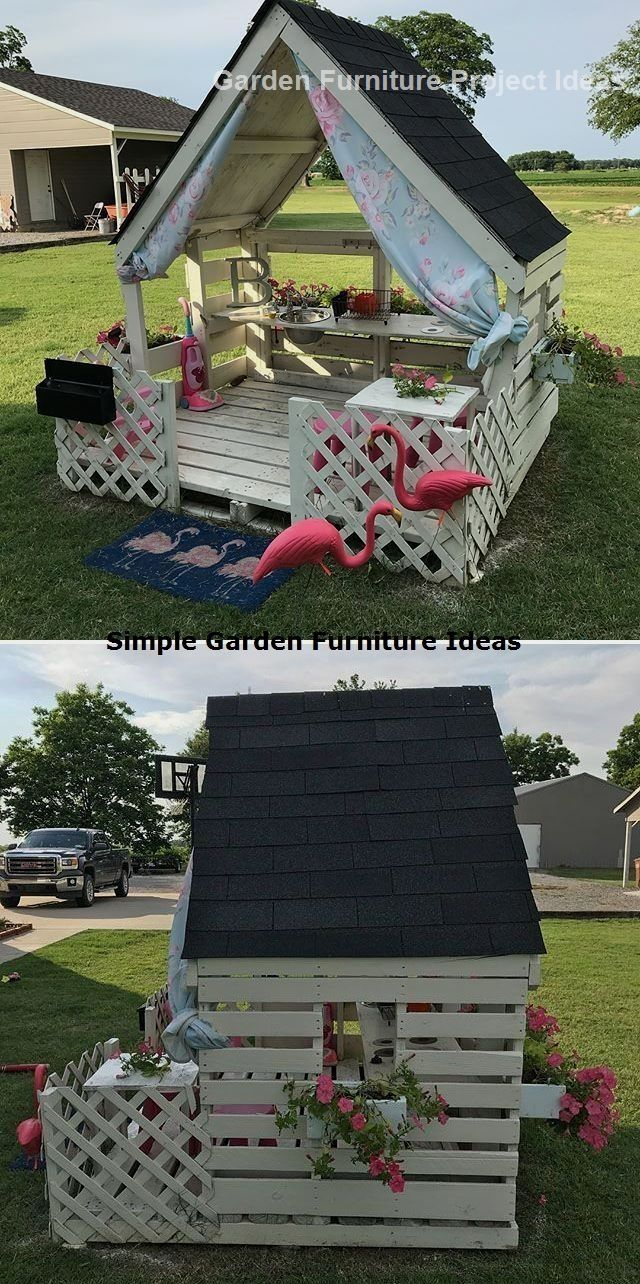 15 Adorable Gardening Furniture Projects With Wood In 2020 Pallet Projects Garden Pallet Garden Furniture Pallet Playhouse