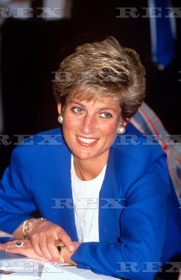 17 April 1991 Princess Diana visiting Taunton, Somerset, Britain