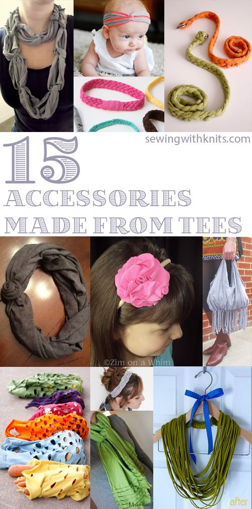 Don't throw away those old tee shirts! Give them new and exciting life!