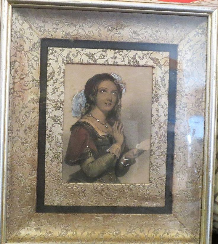Antique engraving J.W Wright hand colored in oil from 2271668 on Ruby Lane