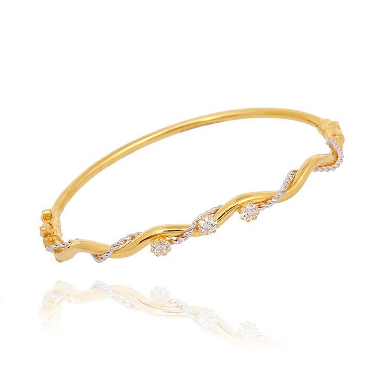 bangles duo tone infinity gold bracelet grt jewellers