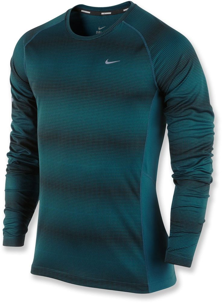 Cooling mesh side panels and moisture-wicking fabric make the Men\u0027s Nike  Printed Miler T. Running Shoes ...