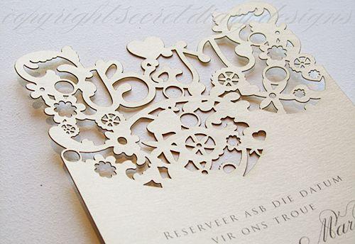 lasercut invitations #whimsical