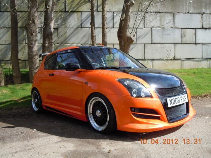 Modified Suzuki Swift orange