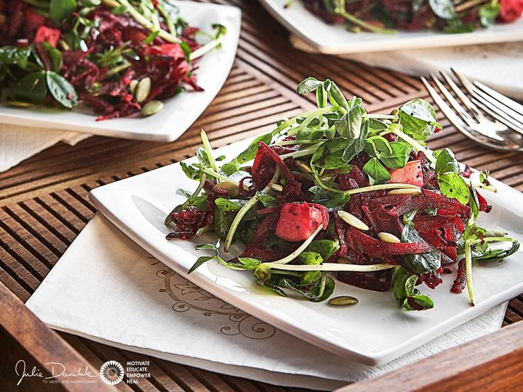 Hot Detox Beet Bop Salad by JulieDaniluk.com