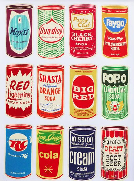 Art prints inspired by retro brands. All of these prints are available for purchase at AntiGraphic.