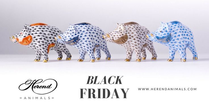#Black #Friday / & Saturday & Sunday / at #Herend #Animals! Use the coupon code: black-friday-2017 and get 13% off from all Instant Delivery items!