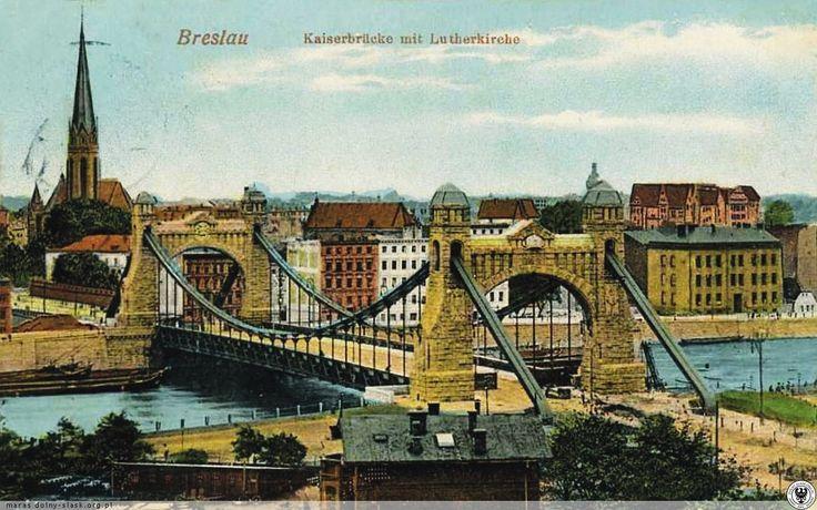 Most Grunwaldzki i kościół Lutra.Rok 1911