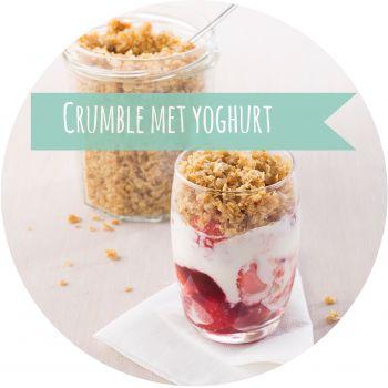 Havermout: crumble met yoghurt.  http://www.libelle.be/lekker/340553/powerontbijt-met-havermout