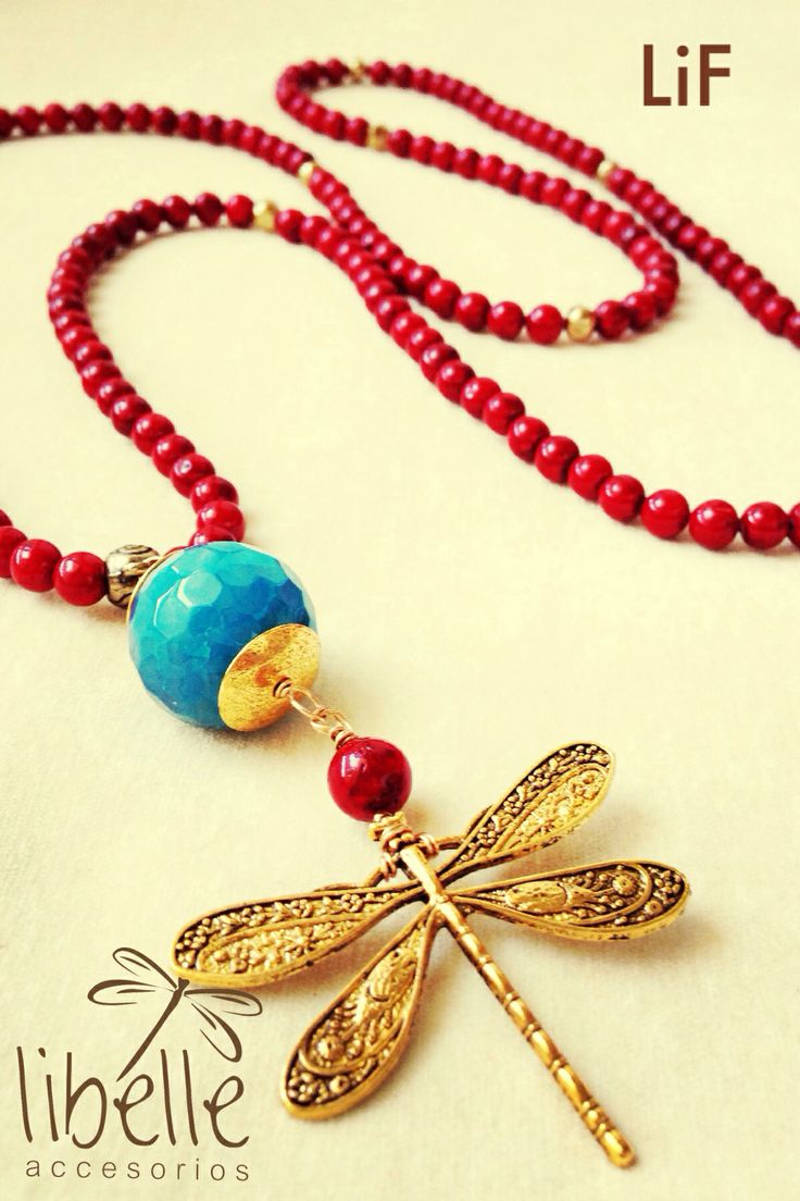 Red with dragonfly