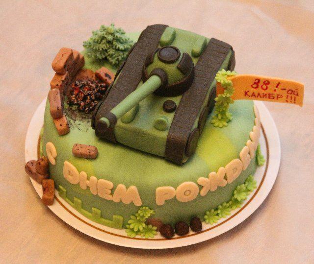 Торт танк военный картины