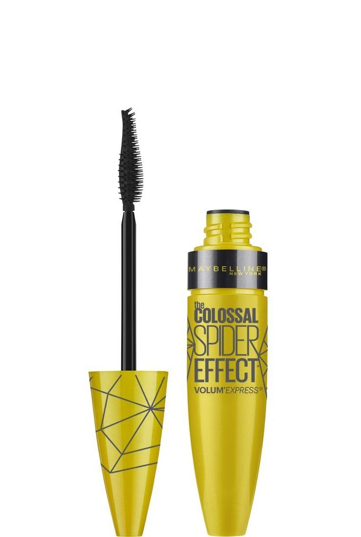 Maybelline New York Volume Express The Colossal Spider Effect Washable Mascara, Glam Black, 0.33 Fluid Ounce. Achieve bold sculpted volume and maximum length. Cone shaped bristles grab and group lashes plus liquid latex formula sets and holds. Washable formula.