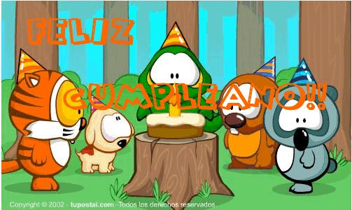 "Desgarga gratis los mejores gifs animados de cumpleaños. Imágenes animadas de cumpleaños y más gifs animados como ángeles, gracias, animales o nombres"""