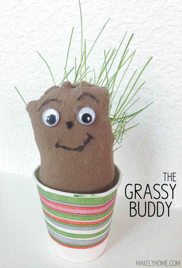 Grassy Buddy - super easy kid's craft to do this summer!