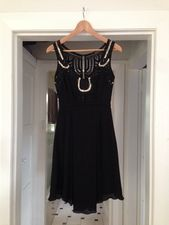 Black and Gold Sequinned Dress