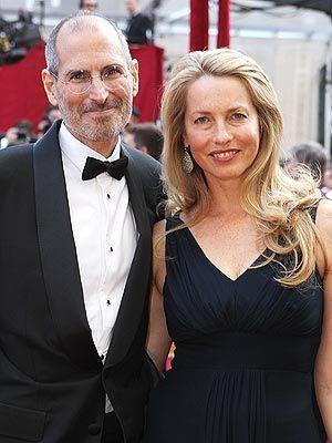 Steve Jobs and wife, Laurene Powell, at the 82nd Annual Academy Awards ALEXANDRA WYMAN/GETTY