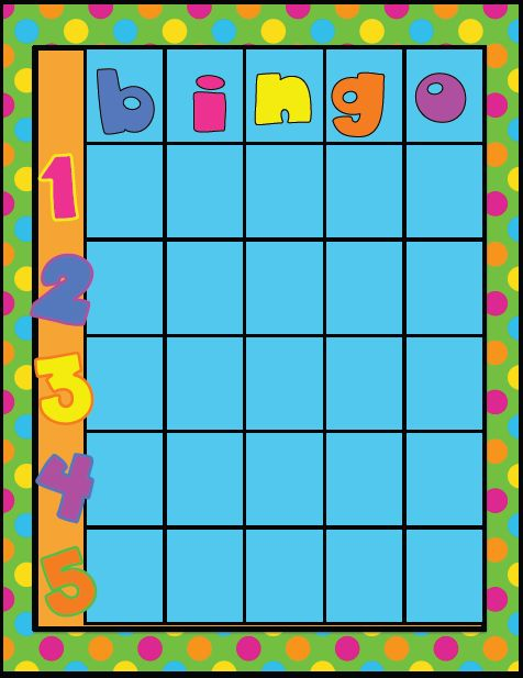 Fun For First: Behavior Bingo Freebie