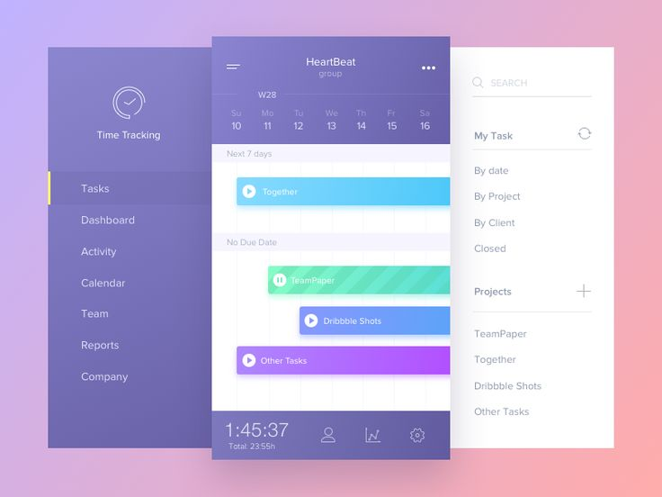 Time Tracking App by Vladimir Gruev #Design Popular #Dribbble #shots