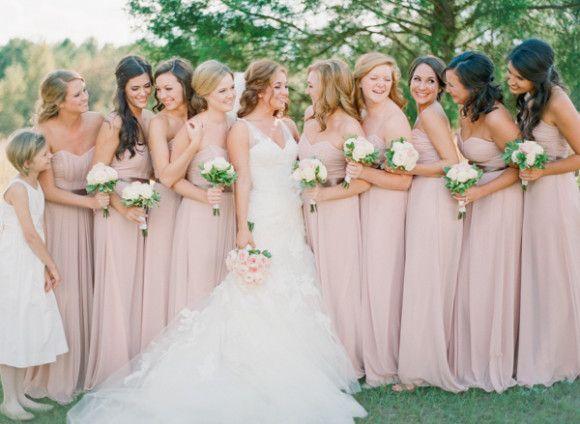 Elegant farm wedding with pink bridesmaids ~ Jennifer Blair Photography