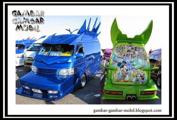 foto modifikasi mobil angkot terkeren