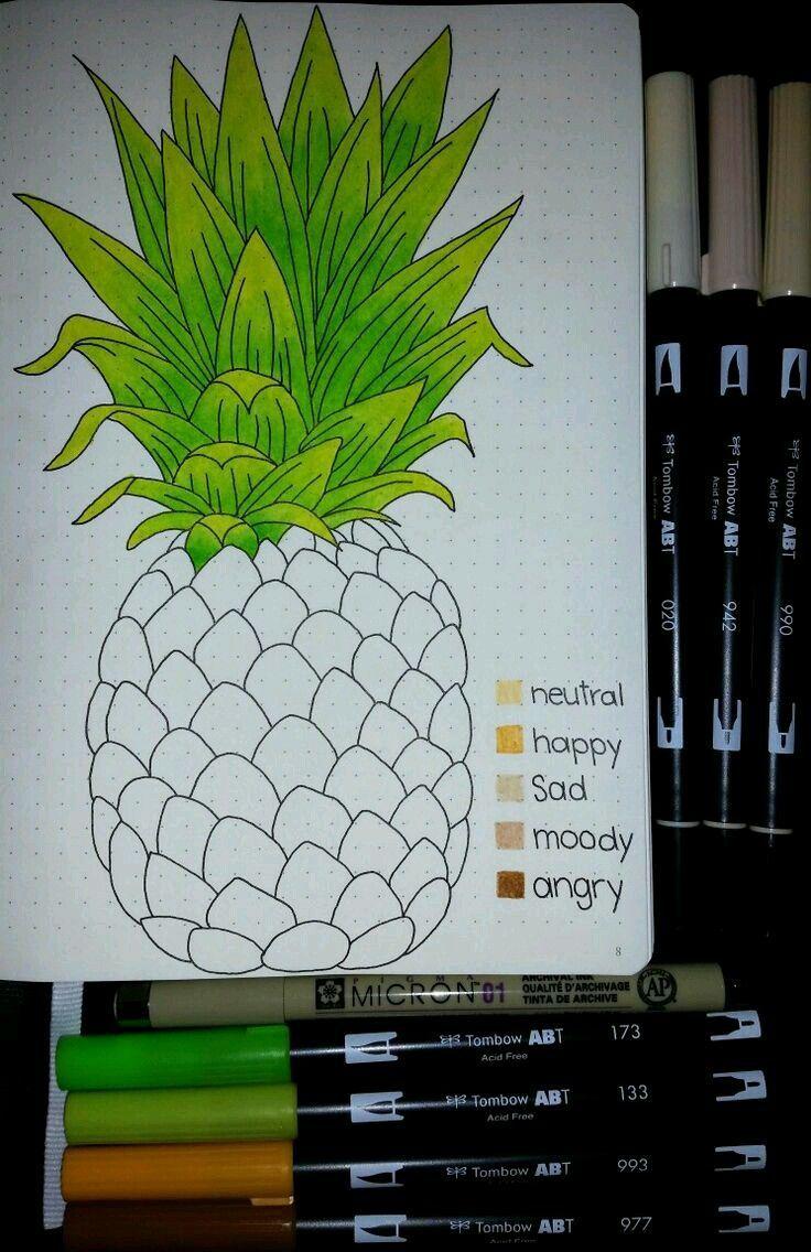 Stimmung #tracker #ananas #für # die #Monate – Tagebuch diy
