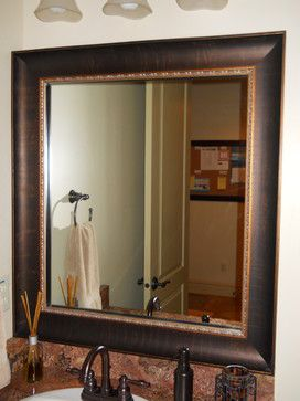 traditional home framed bathroom mirrors design ideas pictures remodel and decor