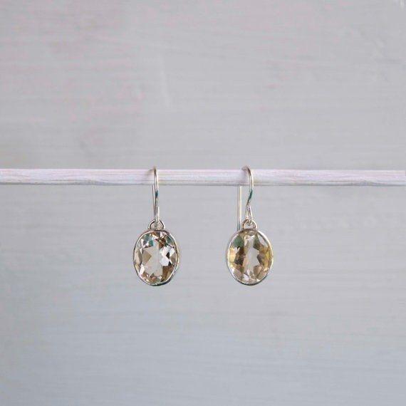 Dangling Citrine Earrings