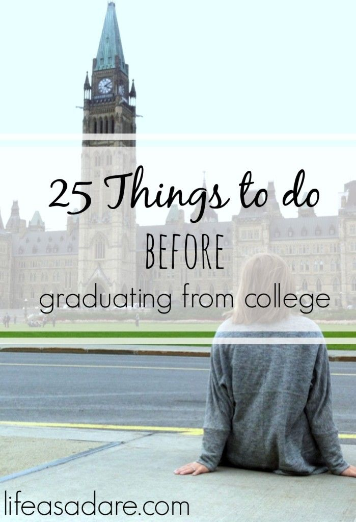 College is an amazing time, and the college experience should not be wasted! Here are 25 things to do before graduating to make sure you get the full college experience!