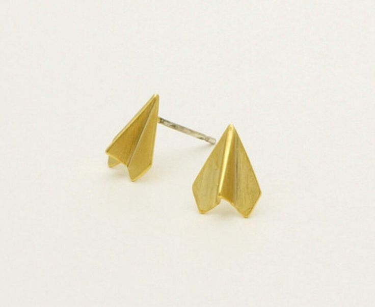 Sale!!!Origami Paper Plane Earrings,Plane Earring,Origami Jewelry,Paper Plane,Origami,Magnetic Nose Stud,Septum Ring,Body Chain,Body Jewelry by TheTinyMustardSeed on Etsy https://www.etsy.com/listing/233954079/saleorigami-paper-plane-earringsplane