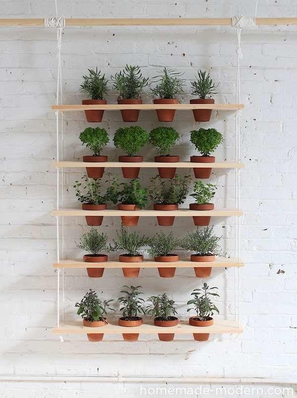 Growing Up 14 Inventive Diy Vertical Gardens Hanging Garden Diy Herb Garden Hanging Herb Garden