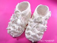 Tina's handicraft : how to make crochet baby shoes