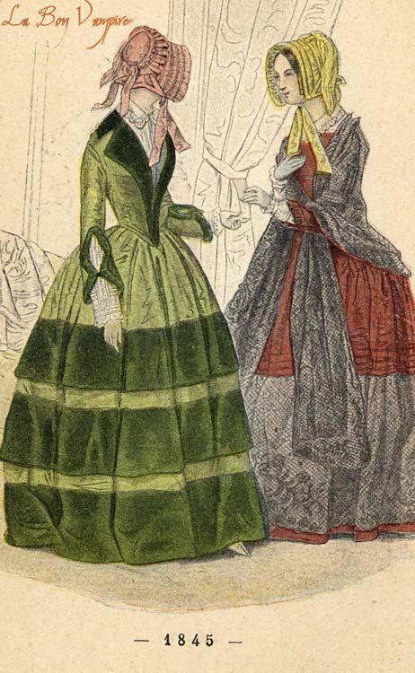 1845 dresses