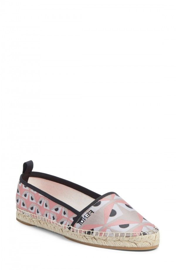 Fendi 'Junia' Espadrille Flat (Women)   Fashiondoxy.com Description - Free shipping and returns on Fendi 'Junia' Espadrille Flat (Women) at Fashiondoxy.com. A hallmark Fendi print refreshes the Junia espadrille, injecting the classic style with lively color and playful panache