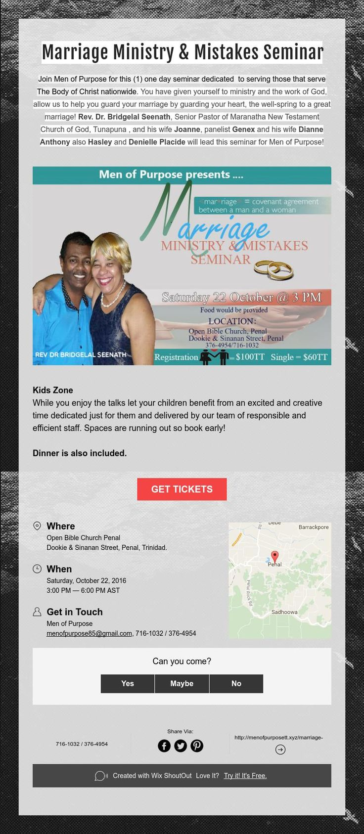 Marriage Ministry & Mistakes Seminar