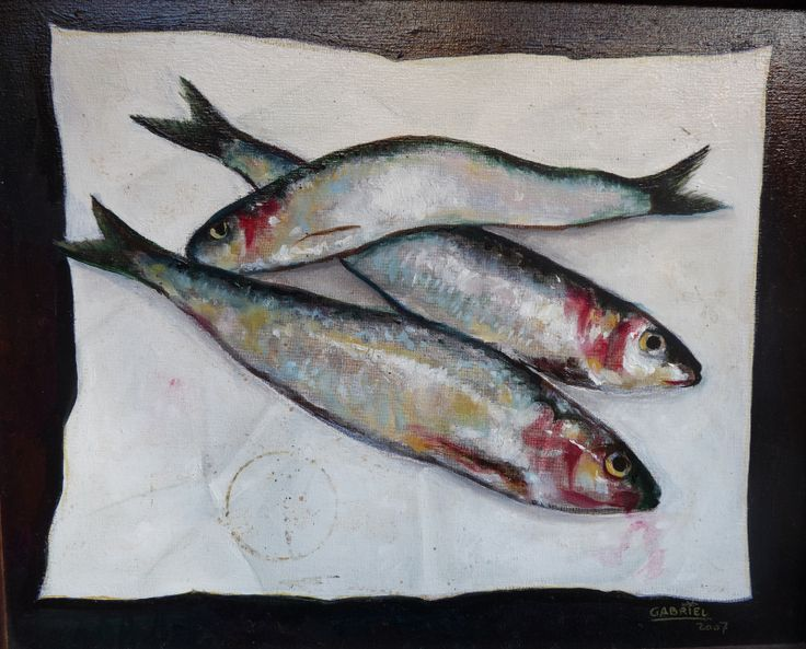 """Pintura al óleo """"Sardinas"""" Autor: Gabriel"""