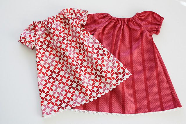 Free pattern for infant peasant dress