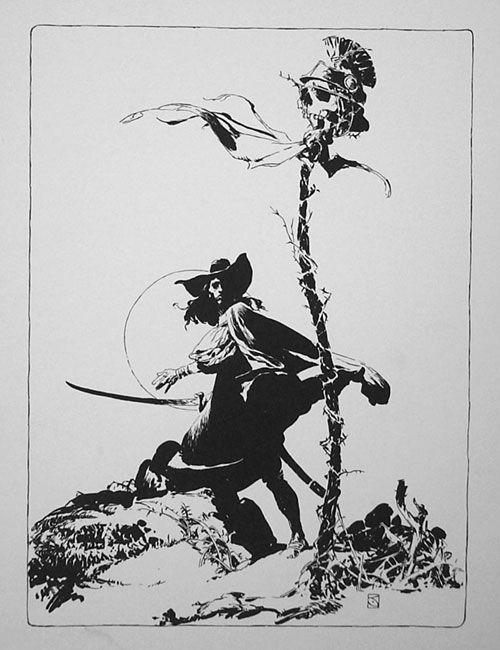 Jeff Jones illustration, Solomon Kane