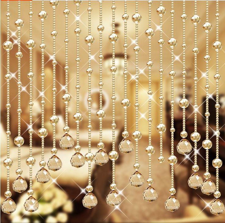Wedding Party Home Decorations Arylic Crystal Beads Rope Decor Curtain Hanging Screen On Wall