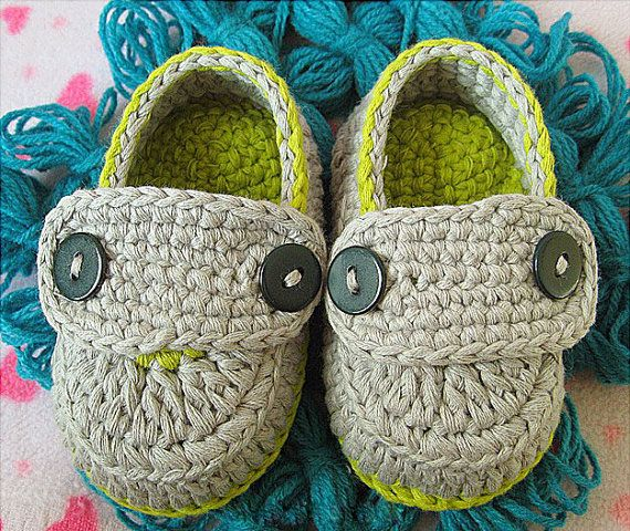 New Style Baby Shoes Crochet Infant Shoes Knitting by MiniBeeBee, $7.99