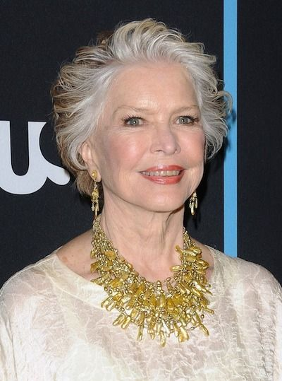 Ellen Burstyn keeps her sweeping grey hair in a short, chic hairstyle. Photo courtesy WENN