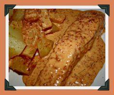 Une superbe bonne recette de poisson, la sauce est goûteuse, un vrai délice J'ai juste changer un peu le mode de cuisson car dans la recette d'origine, le saumon devait cuire 25 minutes, cela m'a semblé trop, je vous mets donc ma façon de procéder Source:...