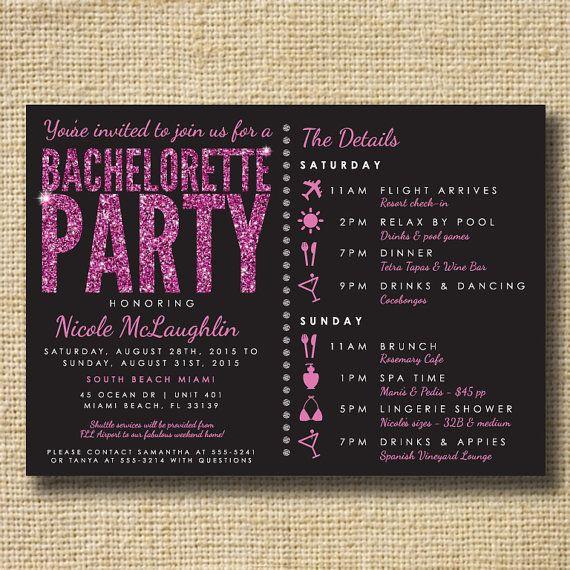 Bachelorette Party Invite Stagette Party Invite by creativelime