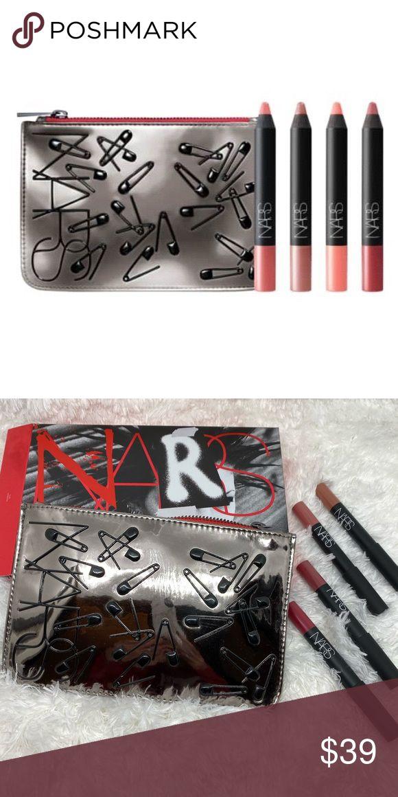 NARS Lip Crayon and Bag Set NWT (With images) Lip