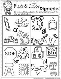 First Grade Summer Worksheets - Digraphs
