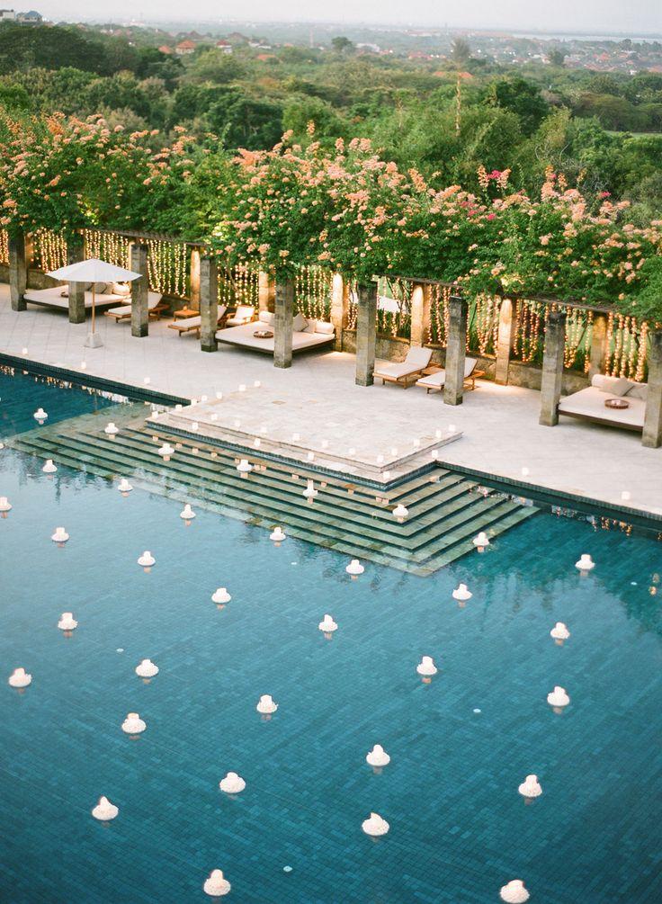 How a couple transformed a villa in Bali into their dream magical destination wedding // Antoine and Haidi's Enchanted Garden Wedding at Amanusa, Bali